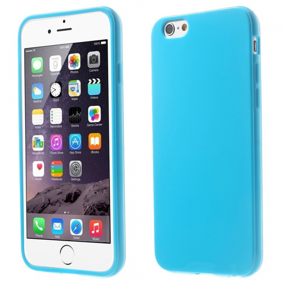Lesklý gelový kryt na Apple iPhone 6   6S - tmavě modrý - AppleKing.cz 0f25761d572