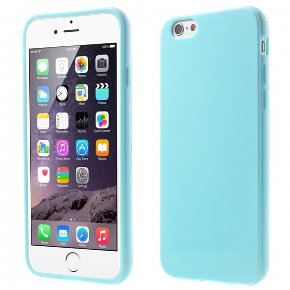 AppleKing lesklý gelový kryt na Apple iPhone 6 / 6S - nebesky modrý - možnost vrátit zboží ZDARMA do 30ti dní