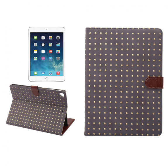 "AppleKing ochranné flip pouzdro s integrovaným stojánkem pro Apple iPad 9.7"" (2017) / iPad 2018 / iPad Pro 9.7"" / iPad Air / iPad Air 2 - tmavě šedé - možnost vrátit zboží ZDARMA do 30ti dní"