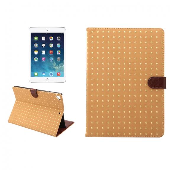 "AppleKing ochranné flip pouzdro s integrovaným stojánkem pro Apple iPad 9.7"" (2017) / iPad 2018 / iPad Pro 9.7"" / iPad Air / iPad Air 2 - světle hnědé - možnost vrátit zboží ZDARMA do 30ti dní"