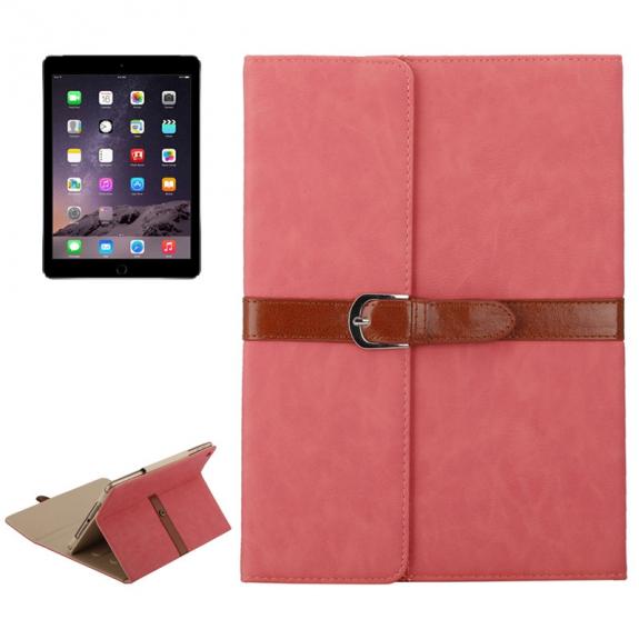 """AppleKing luxusní pouzdro z PU kůže s přezkou pro Apple iPad Air / iPad Air 2 / iPad Pro 9.7"""" / iPad 9.7"""" (2017) / iPad 2018 - růžové - možnost vrátit zboží ZDARMA do 30ti dní"""