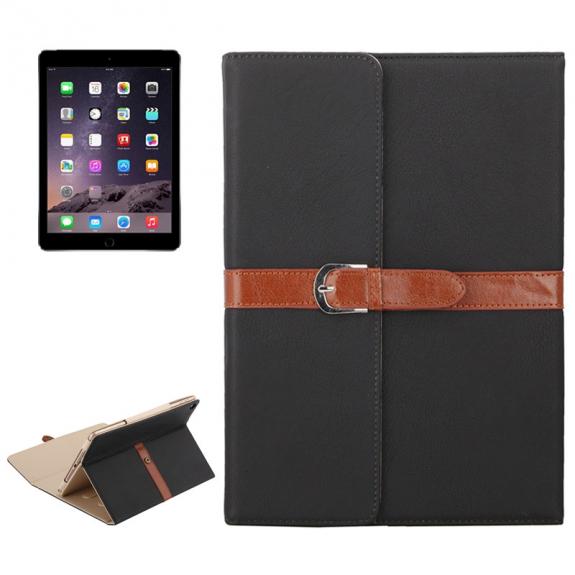 """AppleKing luxusní pouzdro z PU kůže s přezkou pro Apple iPad Air / iPad Air 2 / iPad Pro 9.7"""" / iPad 9.7"""" (2017) / iPad 2018 - černé - možnost vrátit zboží ZDARMA do 30ti dní"""
