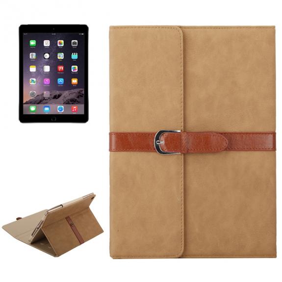 """AppleKing luxusní pouzdro z PU kůže s přezkou pro Apple iPad Air / iPad Air 2 / iPad Pro 9.7"""" / iPad 9.7"""" (2017) / iPad 2018 - béžové - možnost vrátit zboží ZDARMA do 30ti dní"""