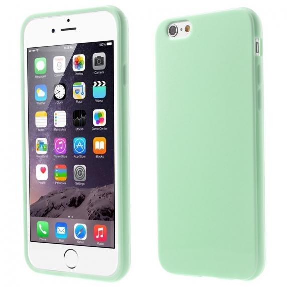 AppleKing lesklý gelový kryt na Apple iPhone 6 / 6S - mátový - možnost vrátit zboží ZDARMA do 30ti dní