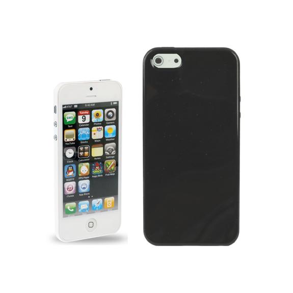 AppleKing ochranný lesklý zadní kryt z měkkého plastu pro Apple iPhone 5 / 5S / SE - černý - možnost vrátit zboží ZDARMA do 30ti dní