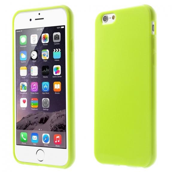 AppleKing lesklý gelový kryt na Apple iPhone 6 / 6S - zelený - možnost vrátit zboží ZDARMA do 30ti dní