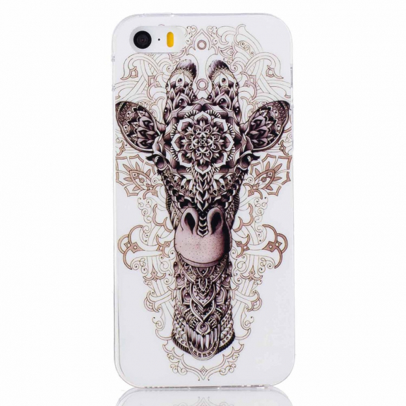 AppleKing ochranný kryt z měkkého plastu pro Apple iPhone SE   5S   5 -  žirafa 643ddcbb18d