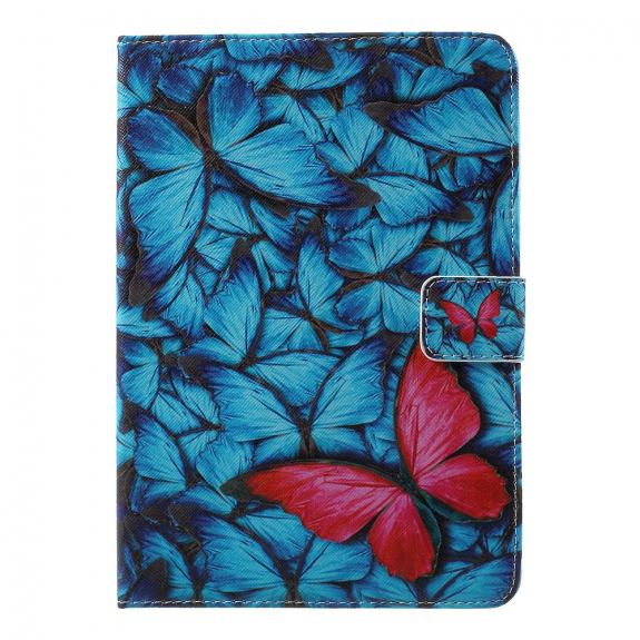 AppleKing ochranný kryt s integrovaným stojánkem a prostorem na doklady pro Apple iPad Mini 3 / 2 / 1 - červený motýl - možnost vrátit zboží ZDARMA do 30ti dní