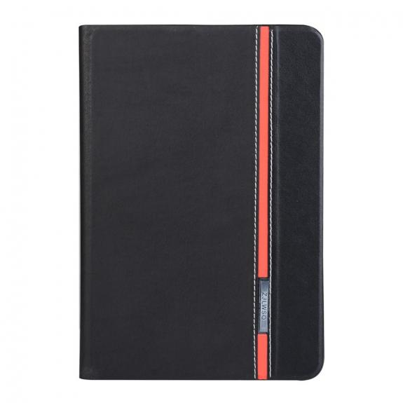 AppleKing ochranný kryt / pouzdro se stojánkem pro Apple iPad mini 3 / 2 / 1 - černé s červeným proužkem - možnost vrátit zboží ZDARMA do 30ti dní