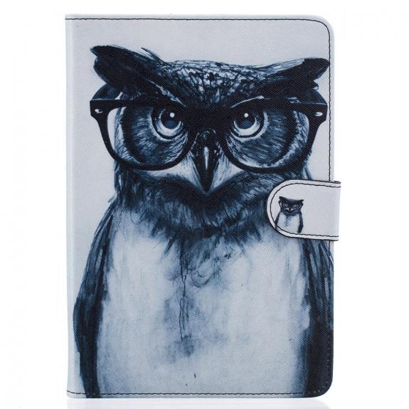 AppleKing ochranný kryt / pouzdro se stojánkem pro Apple iPad mini 3 / 2 / 1 - sova s brýlemi - možnost vrátit zboží ZDARMA do 30ti dní