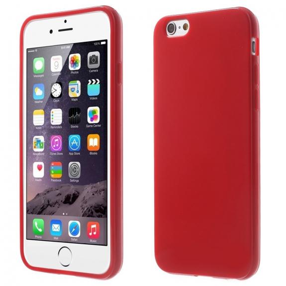 AppleKing lesklý gelový kryt na Apple iPhone 6 / 6S - červený - možnost vrátit zboží ZDARMA do 30ti dní