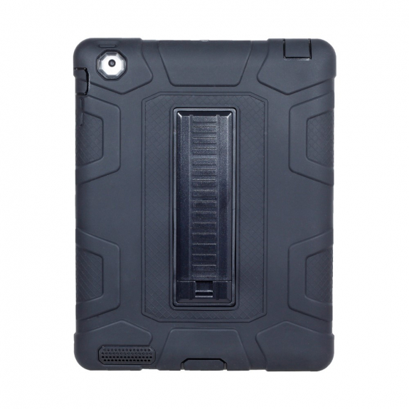 AppleKing odolné ochranné pouzdro se stojánkem a zesíleným tělem pro Apple iPad 4 / 3 / 2 - černé - možnost vrátit zboží ZDARMA do 30ti dní