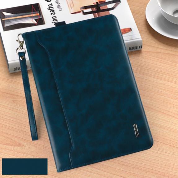 """KAKUSIGA multifunkční peněženkové pouzdro pro Apple iPad 9.7"""" (2017) / iPad 2018 / iPad Pro 9.7 / iPad Air / iPad Air 2 - tmavě modré - možnost vrátit zboží ZDARMA do 30ti dní"""