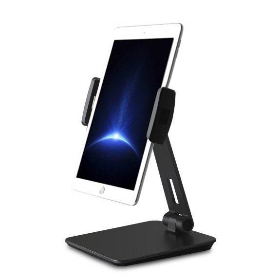 AppleKing otočný stolní hliníkový držák na iPhone / iPad - černý - možnost vrátit zboží ZDARMA do 30ti dní