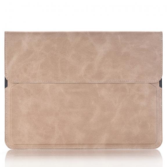"""CRAZY HORSE pouzdro / kapsa se stojánkem a přihrádkami na doklady pro Apple iPad Pro 9.7"""" / Air 2 - světle béžové - možnost vrátit zboží ZDARMA do 30ti dní"""