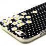 Lesklý kryt na Apple iPhone 6 / 6S - tečky a sedmikrásky
