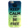 Lesklý kryt na Apple iPhone 6 / 6S - Keep Calm and Be Free