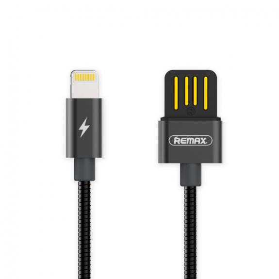 REMAX USB synchronizační a nabíjecí kabel s lightning konektorem a kovovým opletením pro Apple iPhone / iPad / iPod - 1m - šedý - možnost vrátit zboží ZDARMA do 30ti dní