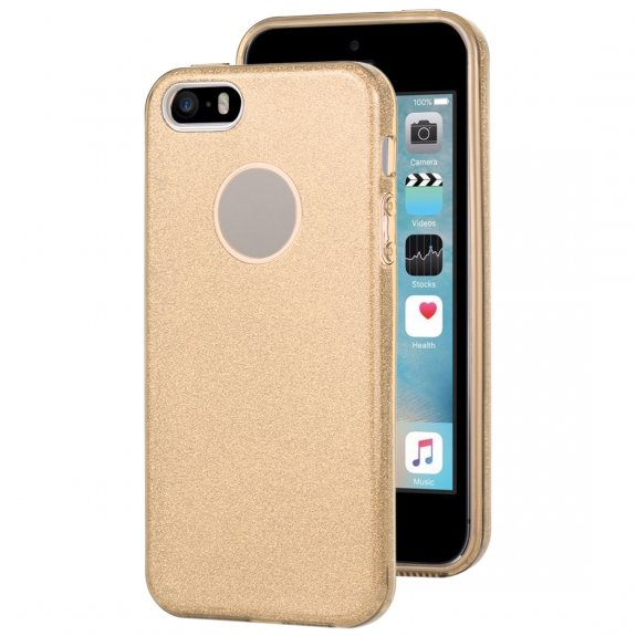 AppleKing třpytivý kryt pro iPhone 5 / 5S / SE - zlatý - možnost vrátit zboží ZDARMA do 30ti dní