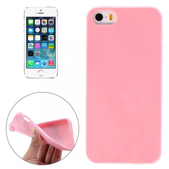 AppleKing lesklý gelový kryt pro Apple iPhone 5 / 5S / SE - růžový - možnost vrátit zboží ZDARMA do 30ti dní