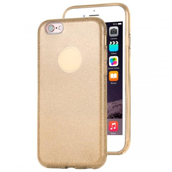 AppleKing třpytivý kryt pro iPhone 6 / 6S - zlatý - možnost vrátit zboží ZDARMA do 30ti dní