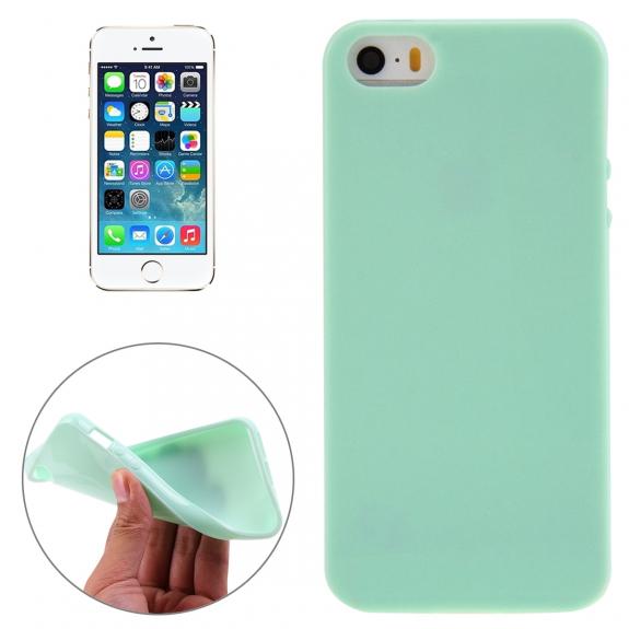 AppleKing lesklý gelový kryt pro Apple iPhone 5 / 5S / SE - mentolový - možnost vrátit zboží ZDARMA do 30ti dní