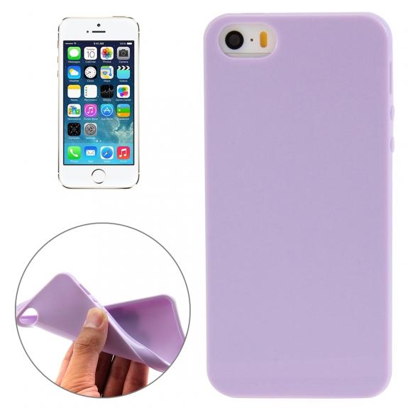 AppleKing lesklý gelový kryt pro Apple iPhone 5 / 5S / SE - světle fialový - možnost vrátit zboží ZDARMA do 30ti dní