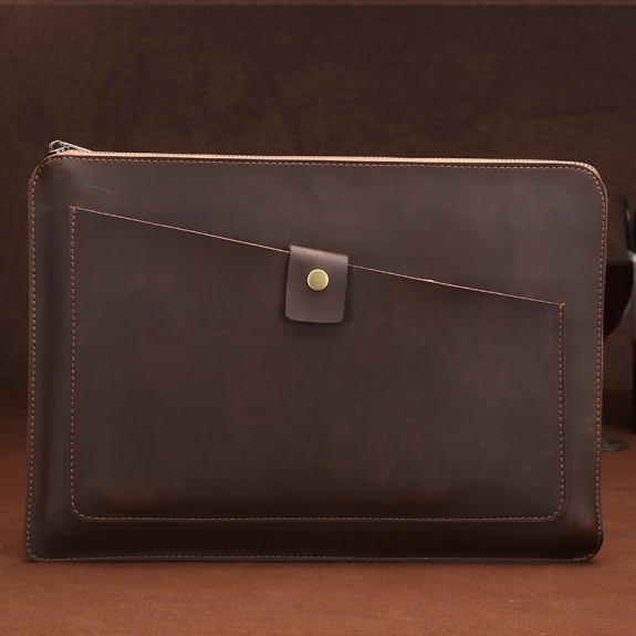 """AppleKing stylová brašna z umělé kůže pro MacBook Pro 15"""" - tmavě hnědá - možnost vrátit zboží ZDARM"""
