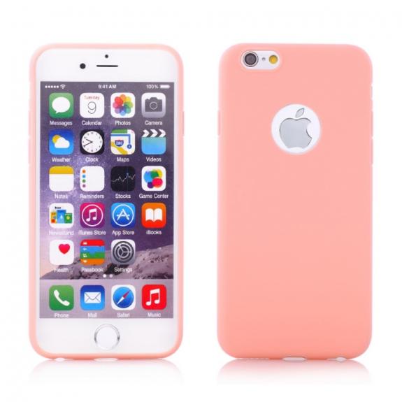 Matný kryt pro Apple iPhone 6 / 6S - růžový