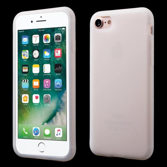 AppleKing matný zadní kryt ze silikonu pro Apple iPhone 7   8 - bílý -  možnost 4364297df17