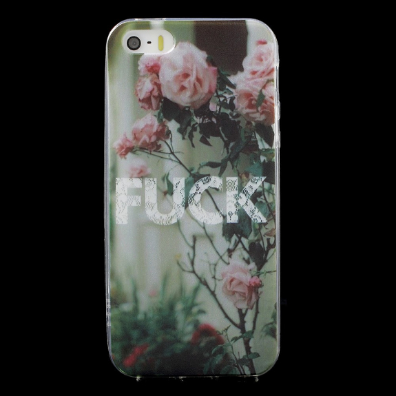 AppleKing ochranný kryt z měkkého plastu pro Apple iPhone SE   5   5S - FUCK cb127a3d4d2