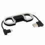 Synchronizační a nabíjecí kabel lightning pro iPhone / iPad / iPod - s otvírákem a karabinou