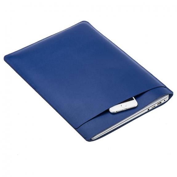 """SOYAN obálka z umělé kůže pro Apple MacBook Air 13"""" / MacBook Pro 13"""" - tmavě modrá - možnost vrátit zboží ZDARMA do 30ti dní"""