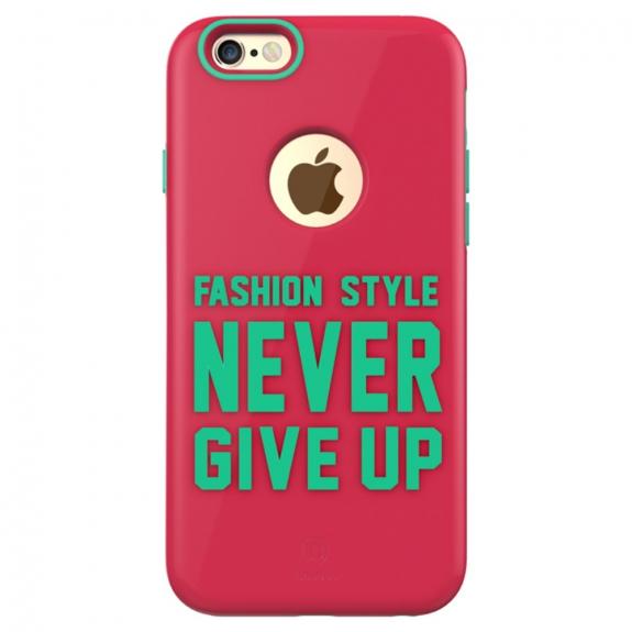 BASEUS módní kryt na Apple iPhone 6 / 6S - růžový s nápisem - možnost vrátit zboží ZDARMA do 30ti dní