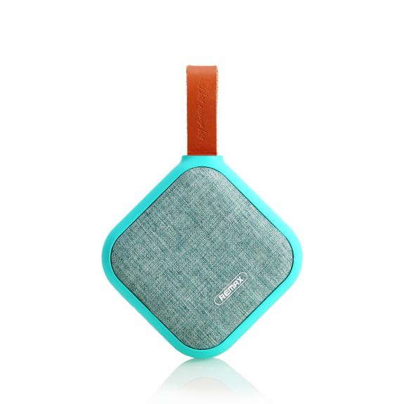 REMAX přenosný Bluetooth reproduktor s textilním potahem a poutkem - tyrkysový - možnost vrátit zboží ZDARMA do 30ti dní