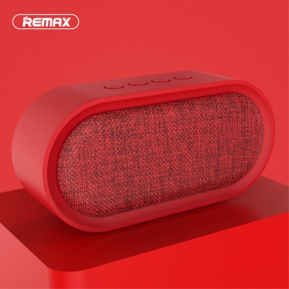 REMAX přenosný Bluetooth reproduktor s textilním potahem - červený - možnost vrátit zboží ZDARMA do 30ti dní