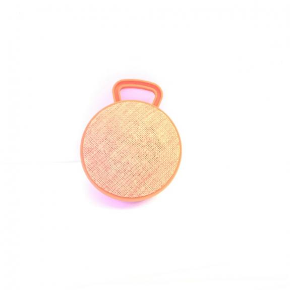 AppleKing malý přenosný bezdrátový Bluetooth reproduktor s textilním potahem - oranžový - možnost vrátit zboží ZDARMA do 30ti dní