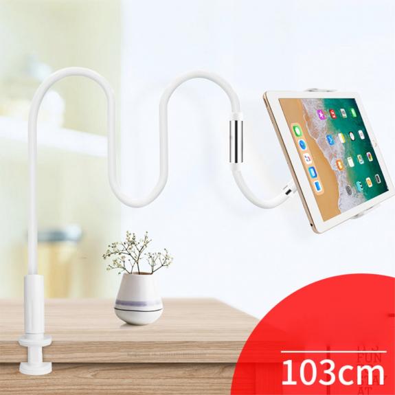 KAKUSIGA univerzální polohovatelný stojan pro Apple iPhone / iPad - bílo / stříbrný - možnost vrátit zboží ZDARMA do 30ti dní