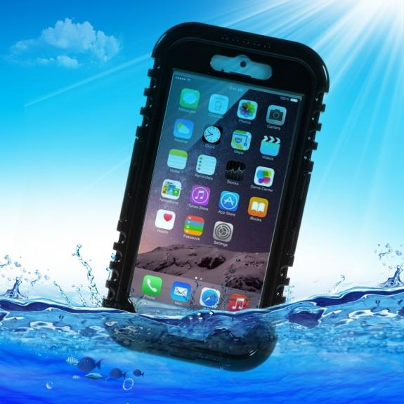AppleKing voděodolné IP-68 pouzdro pro Apple iPhone 6 / 6S - černé - možnost vrátit zboží ZDARMA do 30ti dní
