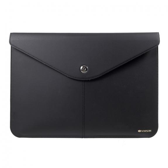 """VORSON elegantní obálka z umělé kůže pro Apple MacBook Air 13"""" / MacBook Pro 13"""" - černá - možnost vrátit zboží ZDARMA do 30ti dní"""