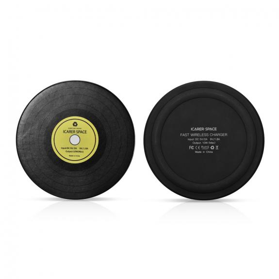 ICARER bezdrátová QI nabíječka pro Apple iPhone - gramofonová deska - možnost vrátit zboží ZDARMA do 30ti dní