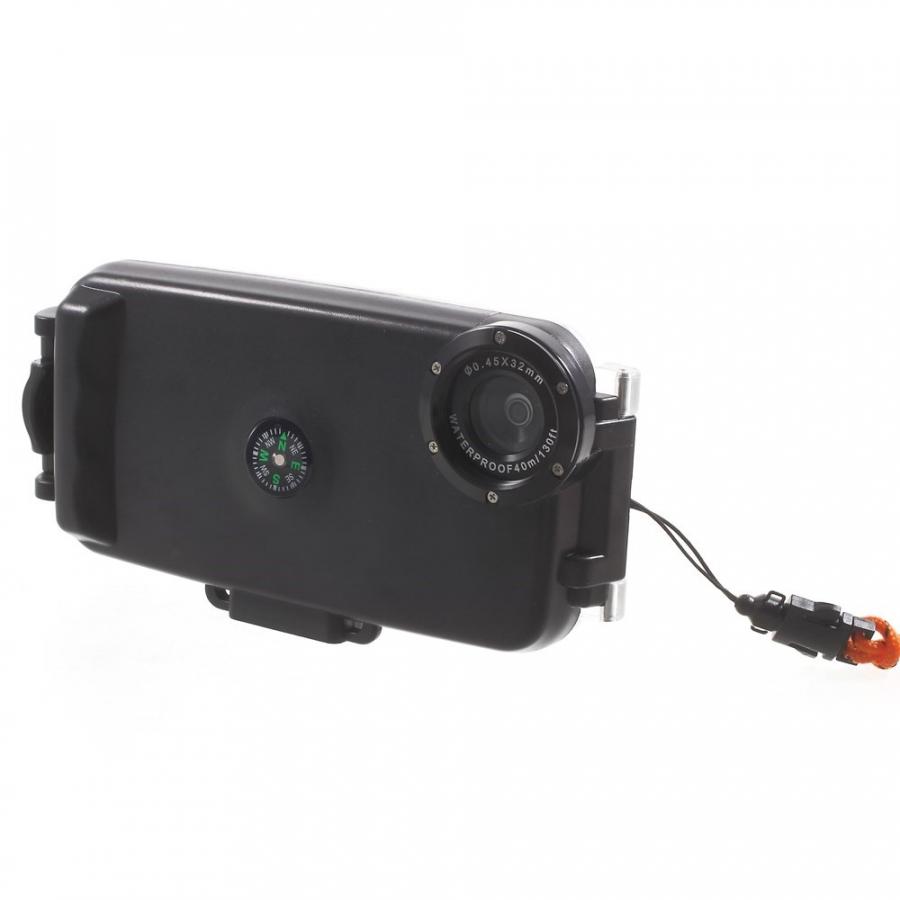 ... Vodotěsné vysoce odolné IPX8 pouzdro s kompasem pro Apple iPhone 6   6S  - černé ... d1596f0613f