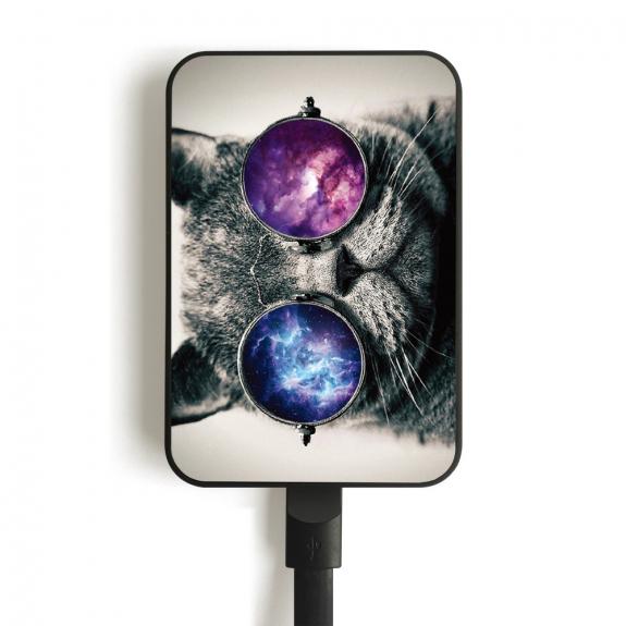 AppleKing powerbanka 10 000mAh pro Apple zařízení - kočka s brýlemi - možnost vrátit zboží ZDARMA do 30ti dní