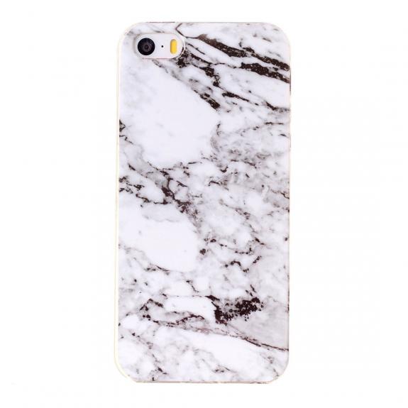AppleKing ochranný plastový kryt pro Apple iPhone 5 / 5S / SE - bílý mramor - možnost vrátit zboží ZDARMA do 30ti dní