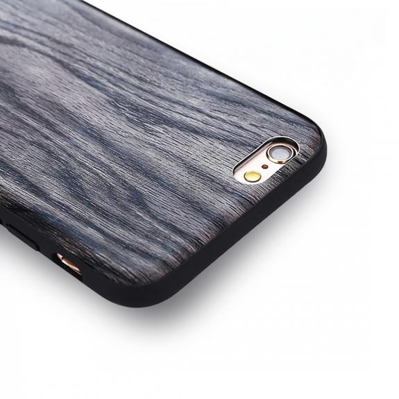 AppleKing ochranný kryt v dřevěném designu pro Apple iPhone 6 Plus / 6S Plus - šedý - možnost vrátit zboží ZDARMA do 30ti dní
