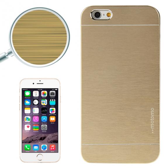 AppleKing ochranný pokovený kryt s broušenou texturou pro Apple iPhone 6 Plus / 6S Plus - zlatý - možnost vrátit zboží ZDARMA do 30ti dní