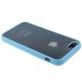 Průsvitný matný kryt pro iPhone 5 / 5S / SE - modrý