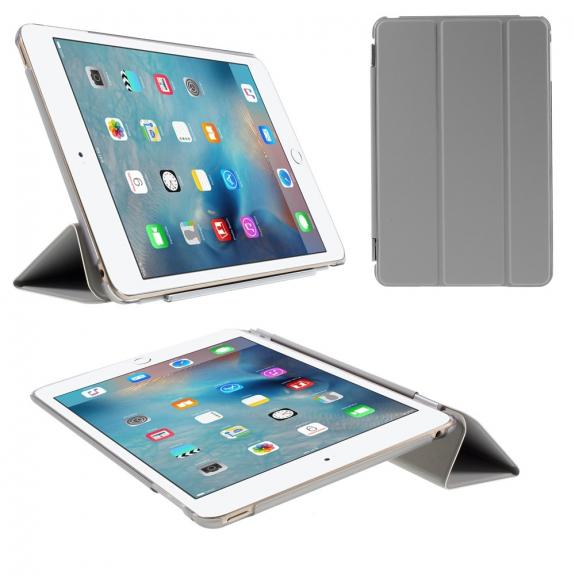 AppleKing plastové pouzdro Smart Cover pro Apple iPad mini 4 - šedé - možnost vrátit zboží ZDARMA do 30ti dní