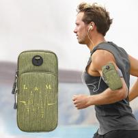 Univerzální sportovní pouzdro / kapsa na ruku pro Apple iPhone / iPod - zelené