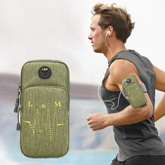 AppleKing univerzální sportovní pouzdro / kapsa na ruku pro Apple iPhone / iPod - zelené - možnost vrátit zboží ZDARMA do 30ti dní